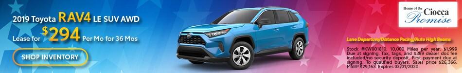 February 2019 Toyota RAV4 LE SUV AWD