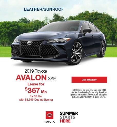 New 2019 Toyota Avalon XSE 5/13/2019