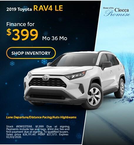 January 2019 Toyota RAV4 LE