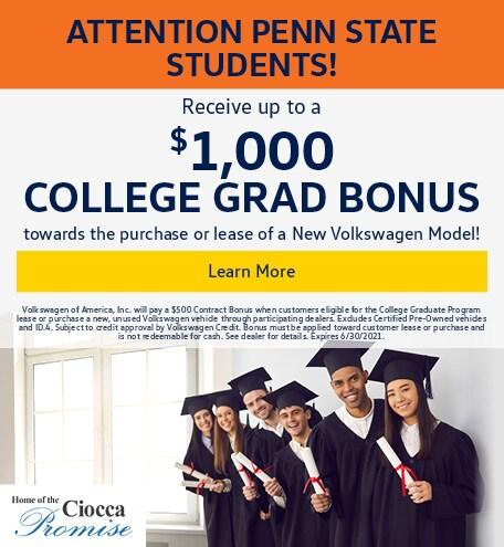 College Grad Bonus Offer