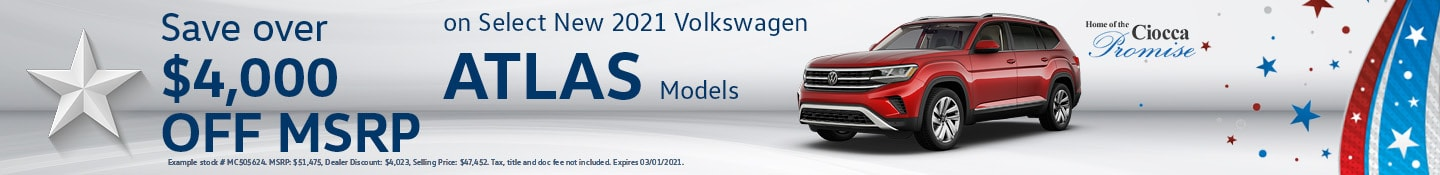 Select New 2021 Volkswagen Atlas Models