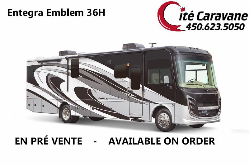 2020 Entegra Coach Emblem 36H 2020 NEUF ! Lit king Laveuse + secheuse ! Full paint ! WOW !