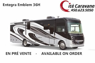 2019 Entegra Coach Emblem 36H 2019 NEUF ! Lit king Laveuse + secheuse ! Full paint ! WOW !