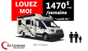 2019 Thor Motor Coach LOCATION COMPASS B+DIESEL couche 3 !