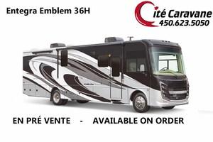 2019 Entegra Coach Emblem 36H 2019 NEUF ! Lit king Laveuse + secheuse ! Full paint ! WOW !