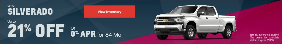 New 2019 Chevrolet Silverado 7/18/2019
