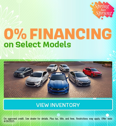 0% Financing on Select Models | Chevy