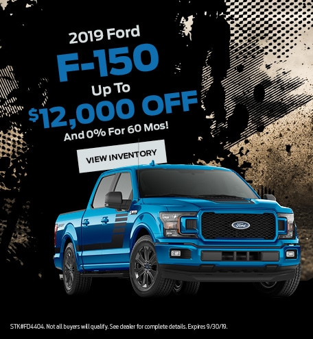 New 2019 Ford F-150 9/6/2019