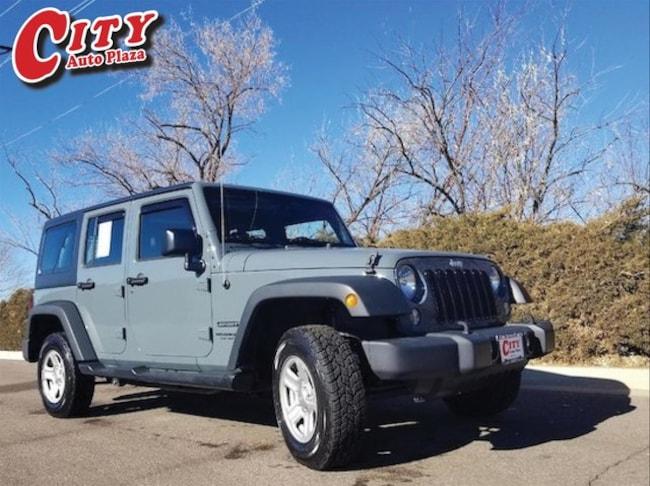 Used 2015 Jeep Wrangler Unlimited Sport 4x4 SUV for Sale Near Pueblo, Colorado
