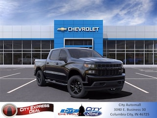 New 2021 Chevrolet Silverado 1500 Custom Truck 1GCPYBEK5MZ165413 for sale in Columbia City, IN
