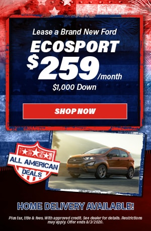 2020 Ford EcoSport - July Offer