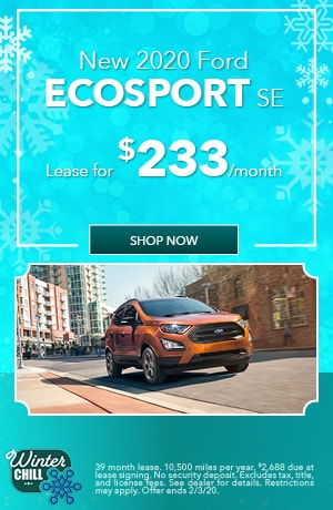 2020 Ford EcoSport - January Offer