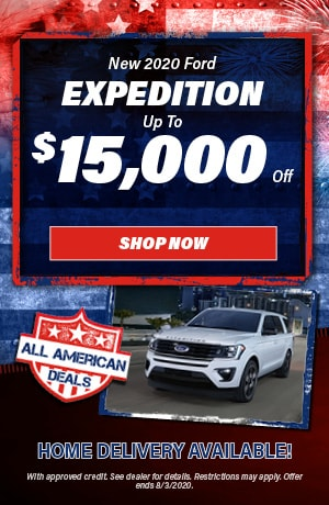 2020 Ford Expedition - July Offer