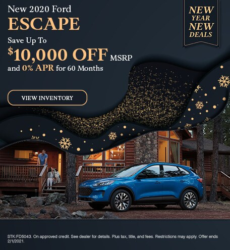 2020 Ford Escape - January Offer