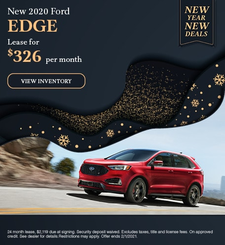 2020 Ford Edge - January Offer