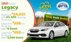 2020 Subaru Legacy July Offer