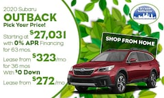 2020 Subaru Outback Offer