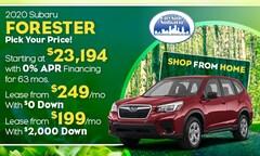 2020 Subaru Forester Offer
