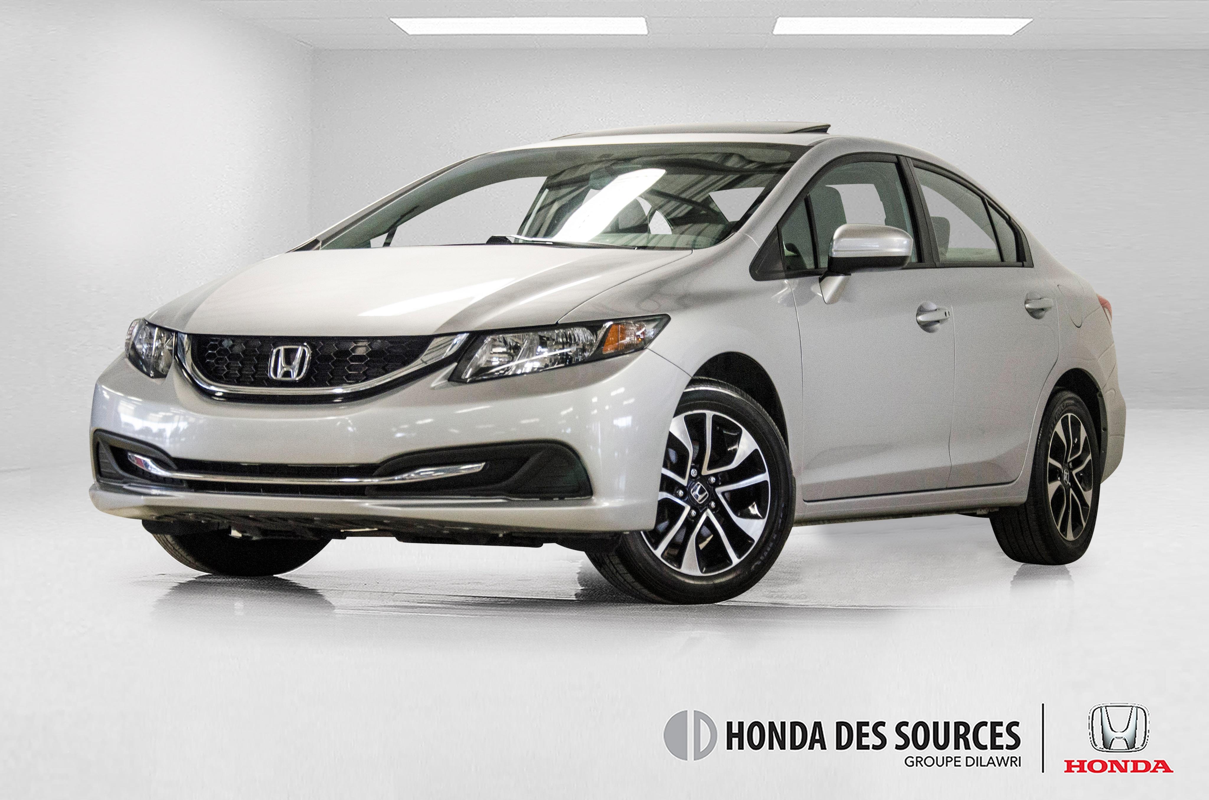 2015 Honda Civic EX  * Push Start * Sièges Chauffants * 2 Caméras * Berline