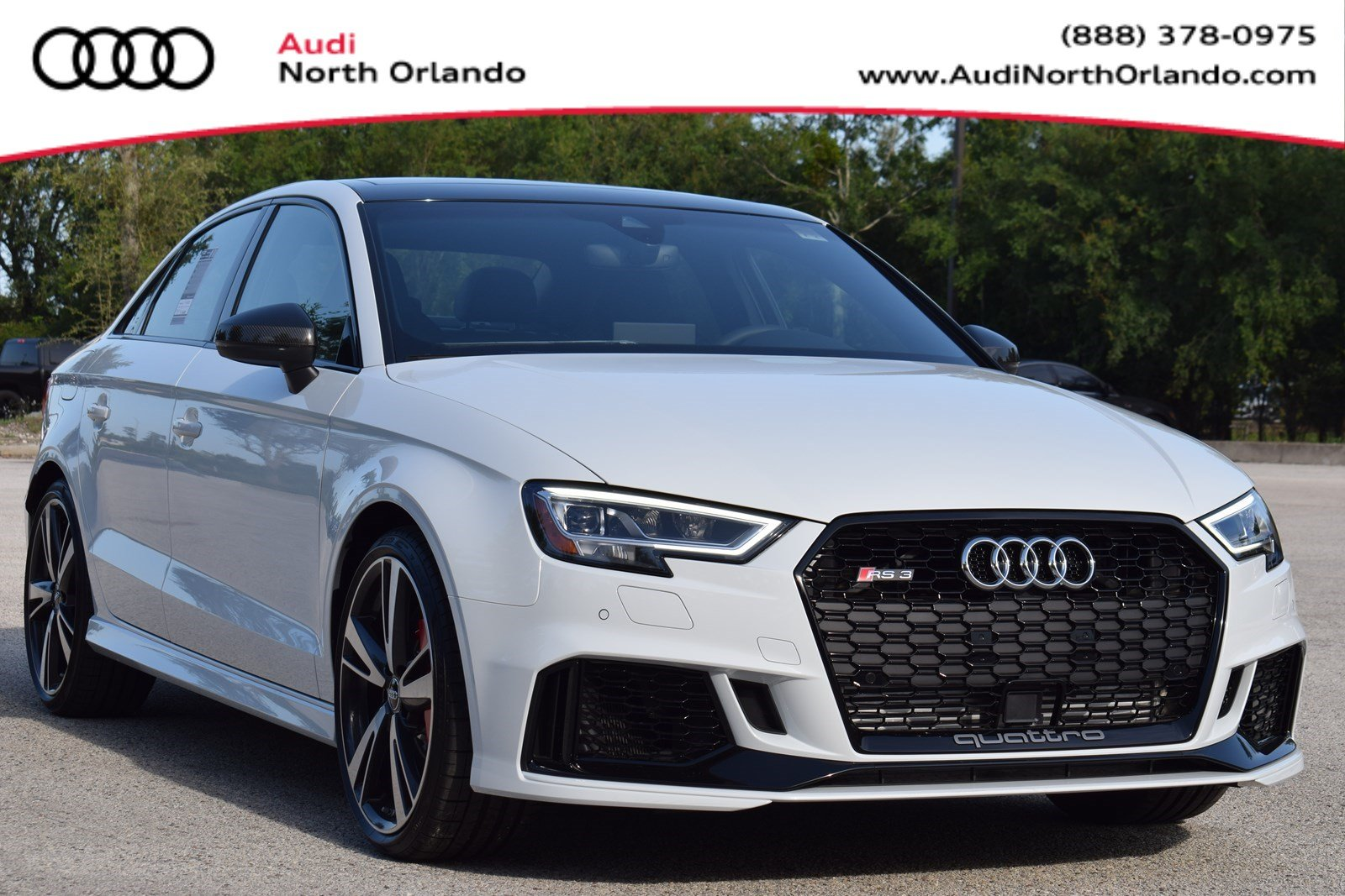 Featured new 2019 Audi RS 3 2.5T Sedan for sale in Sanford, FL, near Orlando, FL.