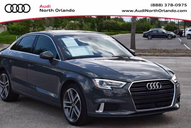 Used 2019 Audi A3 Premium Sedan WAUAUGFF2K1011301 K1011301 for sale in Sanford, FL near Orlando