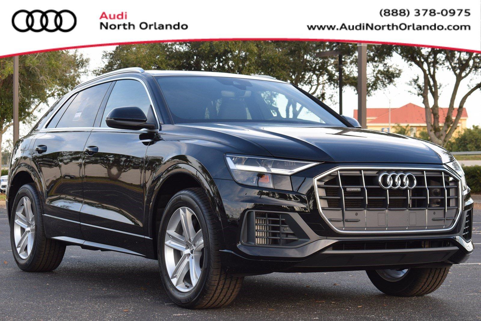 Featured new 2019 Audi Q8 3.0T Premium SUV for sale in Sanford, FL, near Orlando, FL.