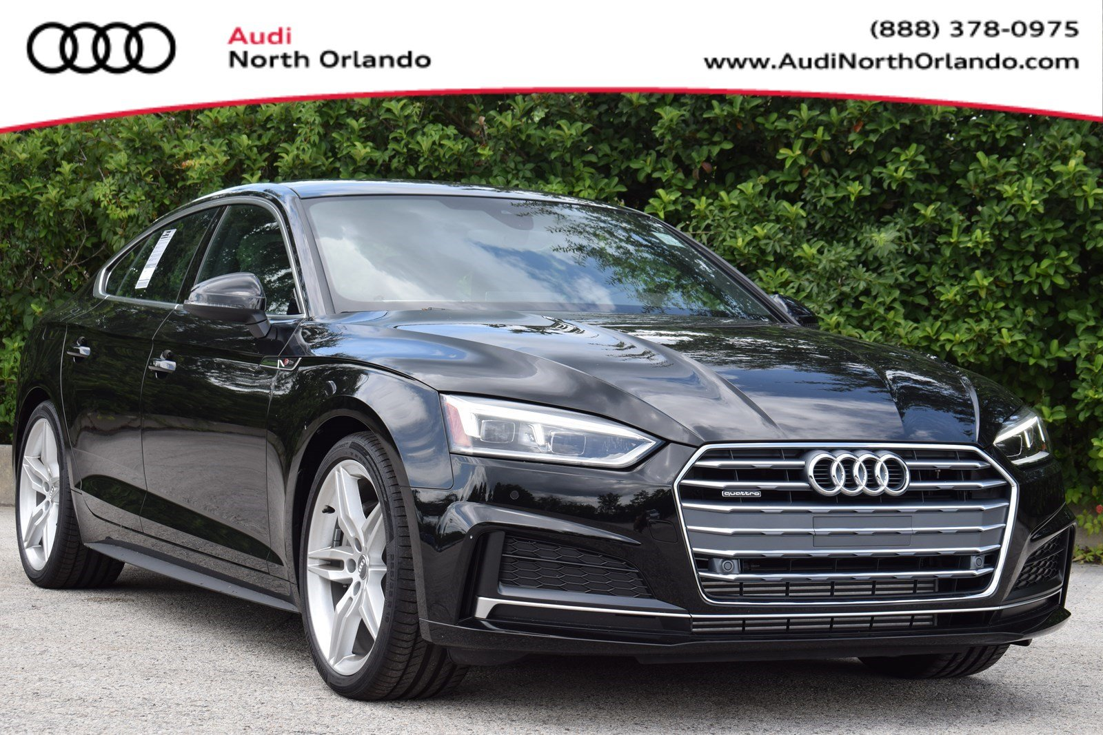 Featured new 2019 Audi A5 2.0T Premium Plus Sportback for sale in Sanford, FL, near Orlando, FL.