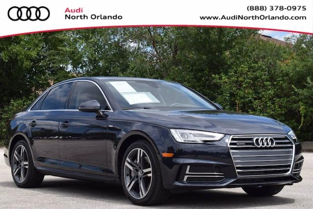 Certified Pre-owned 2017 Audi A4 Premium Plus Sedan WAUENAF45HN041310 HN041310 for sale in Sanford, FL near Orlando