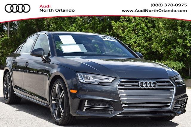Used 2017 Audi A4 Premium Plus Sedan WAUENAF45HN026337 HN026337 for sale in Sanford, FL