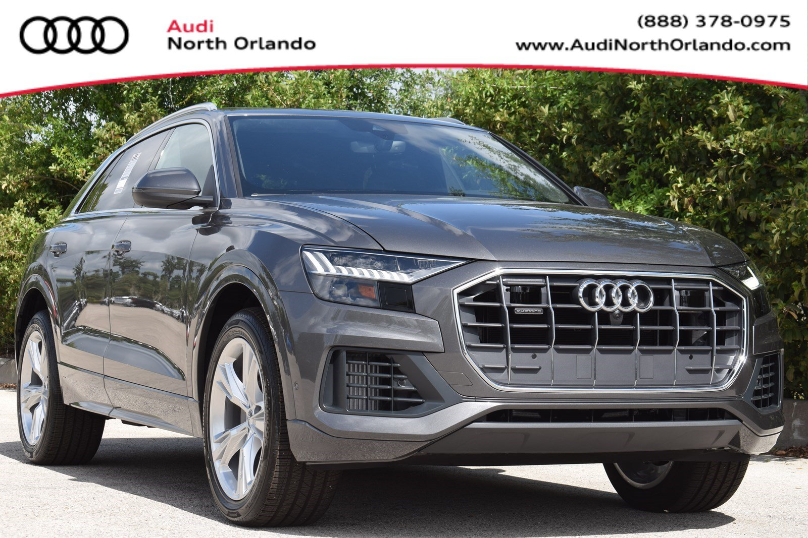 Featured new 2019 Audi Q8 3.0T Prestige SUV for sale in Sanford, FL, near Orlando, FL.