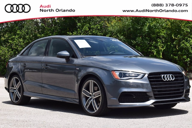 Used 2016 Audi A3 1.8T Premium Sedan WAUA7GFF6G1115885 G1115885 for sale in Sanford, FL near Orlando