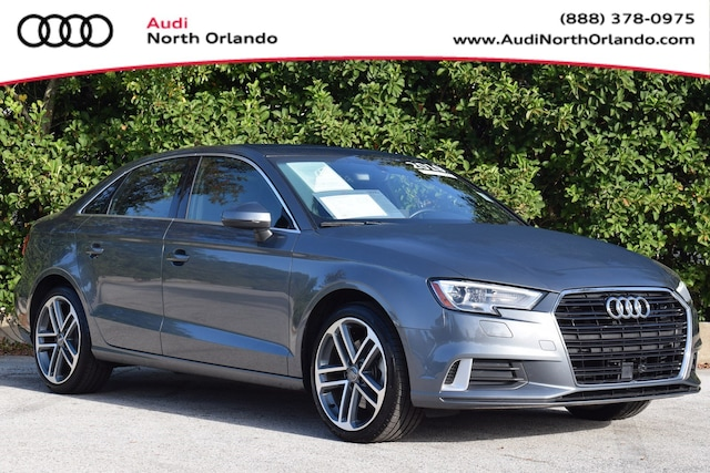 Certified Pre-owned 2019 Audi A3 Premium Sedan WAUAUGFF2K1010116 K1010116 for sale in Sanford, FL near Orlando