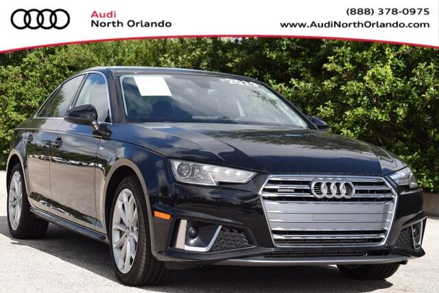 Used 2019 Audi A4 Premium Sedan WAUDNAF46KA025336 KA025336 for sale in Sanford, FL