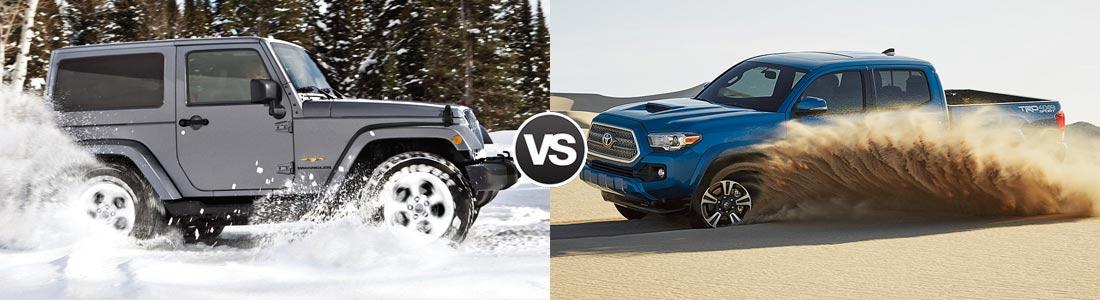 2017 jeep wrangler vs toyota tacoma comparison review | pineville