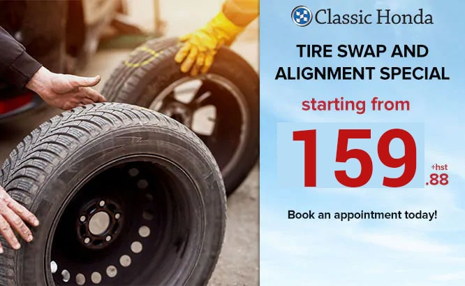 Tire Swap and Alignment Special