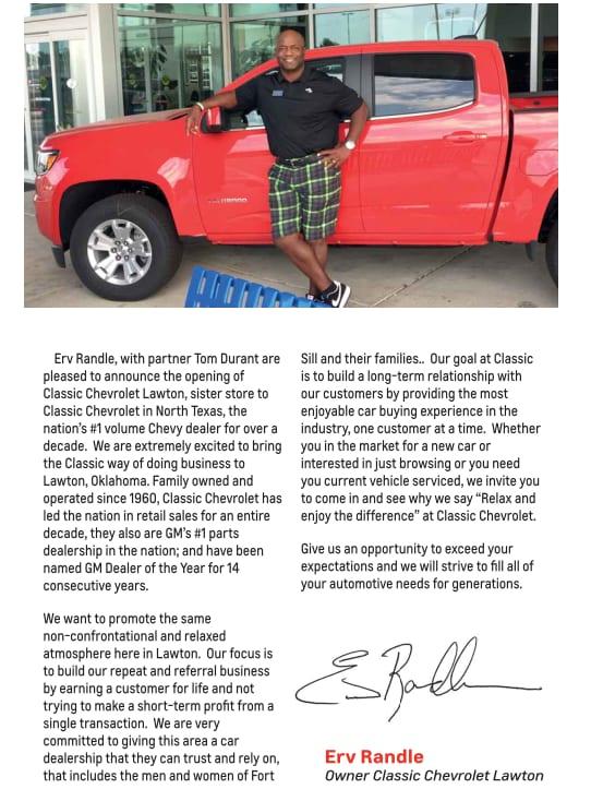 Lawton Chevrolet Dealer About Classic Lawton Chevrolet