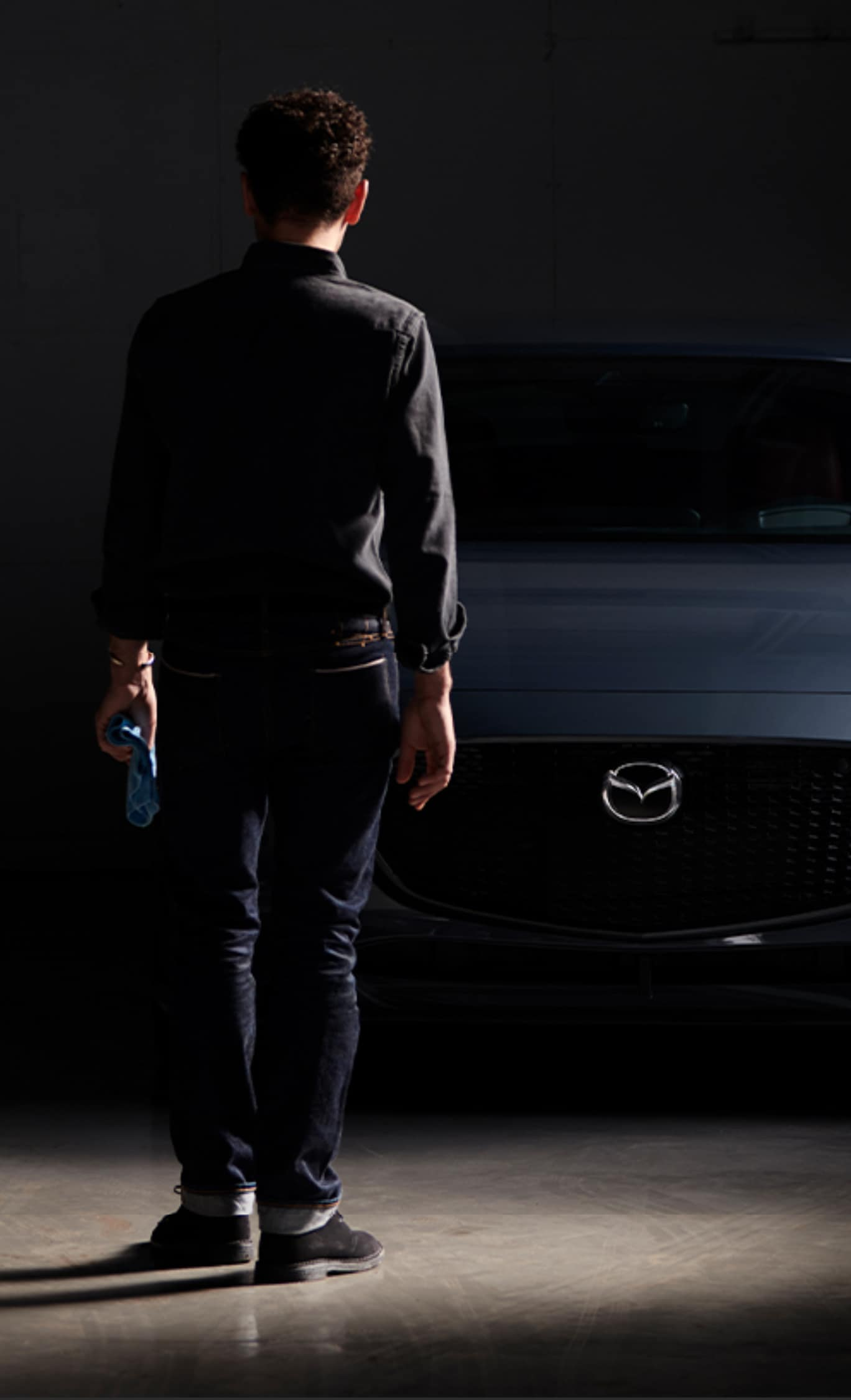 Man Walking Toward Mazda3