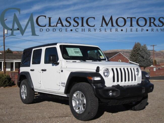 New 2019 Jeep Wrangler UNLIMITED SPORT S 4X4 Sport Utility for Sale in Richfield Utah