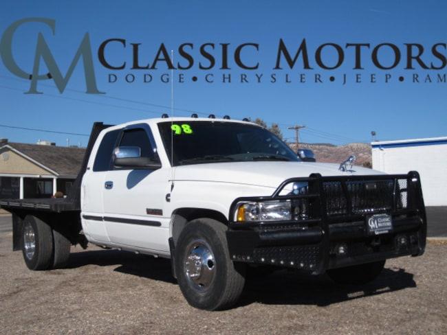 Used 1998 Dodge Ram 3500 Laramie SLT Quad Cab 2WD 8FT Flatbed for Sale in Richfield UT