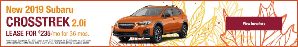 September | Subaru Crosstrek 2.0i