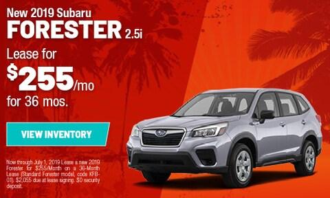 New 2019 Subaru Forester 2.5i