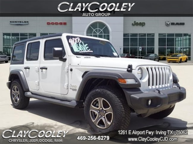 New 2018 Jeep Wrangler UNLIMITED SPORT S 4X4 Sport Utility Irving TX