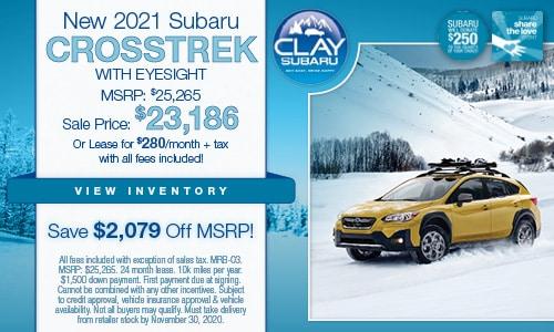 New 2021 Subaru Crosstrek with EyeSight