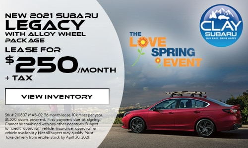 New 2021 Subaru Legacy with Alloy Wheel Package