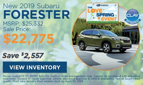 2019 Subaru Forester - April