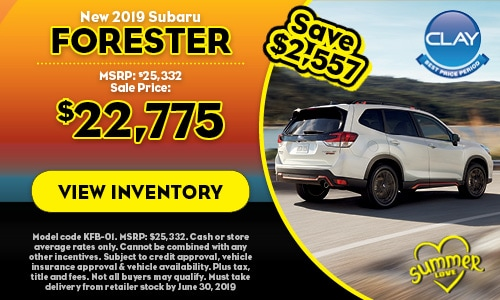 2019 Subaru Forester - June