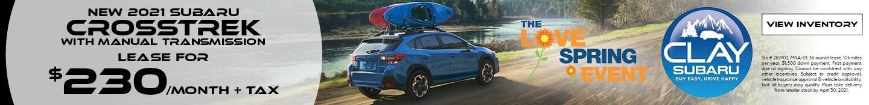New 2021 Subaru Crosstrek with Manual Transmission