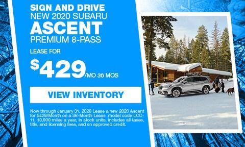Sign and Drive New 2020 Subaru Ascent Premium 8-Pass