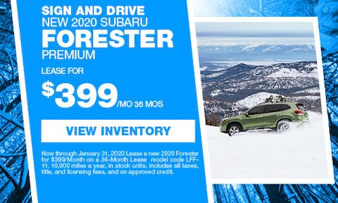 Sign and Drive New 2020 Forester Premium