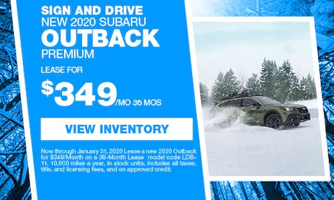 Sign and Drive New 2020 Subaru Outback Premium